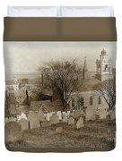 Old Church's Cemetery Graveyard Boston Massachusetts Circa 1900 Duvet Cover