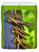 Old Clothes Pins II - Digital Paint Duvet Cover