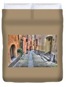 Old Colorful Stone Alley Duvet Cover
