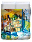 Old Copenhagen Thru Stained Glass Duvet Cover