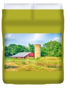 Old Country Farm And Barn Duvet Cover