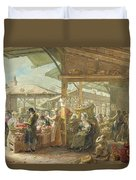 Old Covent Garden Market Duvet Cover by George the Elder Scharf