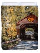 Old Covered Bridge Vermont Duvet Cover
