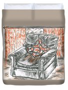 Old Cozy Chair Duvet Cover