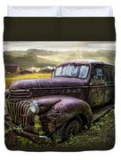 Old Dairy Farm Truck Duvet Cover