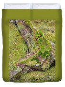 Old Decaying Lichens Moss Covered Taiga Tree Trunk Duvet Cover