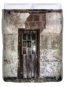 Old Door - Abandoned Building - Tea Duvet Cover by Gary Heller