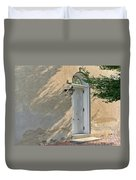 Old Door And Stucco Wall Duvet Cover