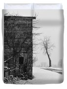 Old Door And Tree Duvet Cover by William Jobes