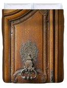 Old Door Knocker Duvet Cover