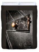 Old Door Lock Duvet Cover
