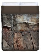 Old Door Textures Duvet Cover