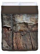 Old Door Textures Duvet Cover