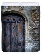 Old Door With Spider Webs Duvet Cover