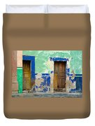 Old Doors, Mexico Duvet Cover