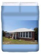 Old Duffau Schoolhouse Duvet Cover by Jason O Watson
