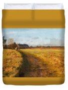 Old English Landscape Duvet Cover by Pixel Chimp