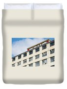 Old Factory Under A Clear Blue Sky Duvet Cover