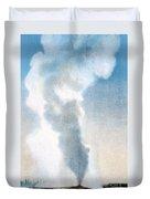 Old Faithful Geyser Yellowstone Np Duvet Cover