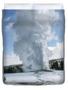 Old Faithful In Her Glory - Yellowstone Duvet Cover
