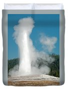 Old Faithful In Upper Geyser Basin Inyellowstone National Park Duvet Cover