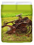 Old Farm Equipment Hardin Montana Duvet Cover