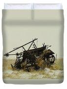 Old Farm Equipment Northwest North Dakota Duvet Cover by Jeff Swan
