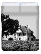Old Farmhouse Surrounded By Cotton Duvet Cover