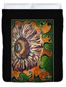 Old Fashion Flower 2 Duvet Cover