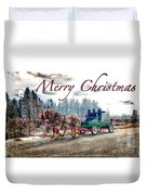 Old Fashion Merry Christmas Duvet Cover