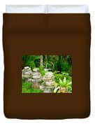 Old Fashion Stone Bean Grinder Duvet Cover