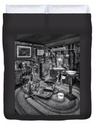 Old Fashioned Dentist Office Bw Duvet Cover