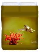 Old Fashioned Hummingbird Duvet Cover
