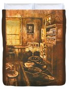 Old Fashioned Kitchen Again Duvet Cover