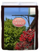 Old Fashioned Post Office Sign Duvet Cover