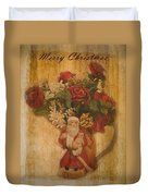 Old Fashioned St Nick Duvet Cover