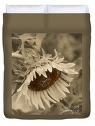 Old Fashioned Sunflower Duvet Cover