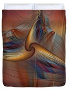 Old-fashionened Swing Boat In The Afterglow Duvet Cover