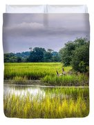 Old Fence Line At The Whale Branch Duvet Cover