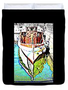 We Will Soon Go Away With The Old Ferry  Duvet Cover by Hilde Widerberg