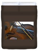 Old Fiddle And Bow Still Life 2 Duvet Cover