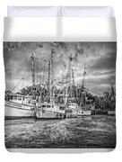 Old Fishing Boats Duvet Cover