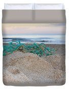 Old Fishing Net On Beach Duvet Cover
