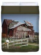 Old Forlorn Decrepid Wooden Barn Duvet Cover