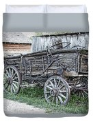 Old Freight Wagon - Montana Territory Duvet Cover