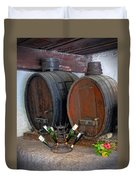 Old French Wine Casks Duvet Cover