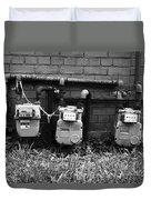 Old Gas Meters Duvet Cover