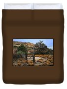 Old Gate At Oak Flats Duvet Cover