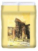 Old Gdansk - The Crane Duvet Cover