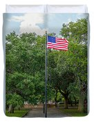 Old Glory High And Proud Duvet Cover